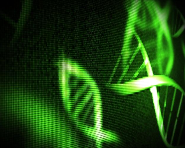 Groene dna-helix