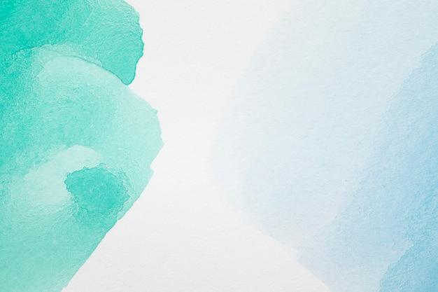 Groene en blauwe abstracte pasteltinten