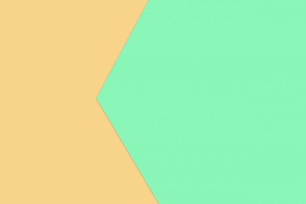 Groene en gele pastel papier kleur voor textuur achtergrond