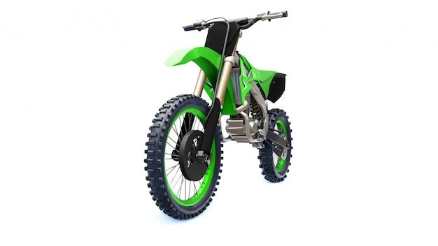 Groene en zwarte sportfiets voor in het hele land
