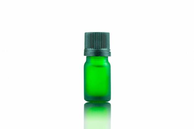 Groene fl essen druppelaar voor vloeibare cannabis cannabis