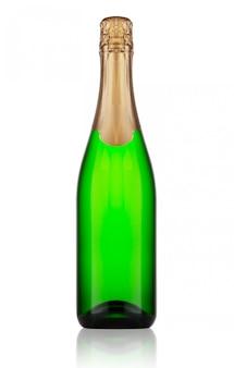 Groene fles champagne