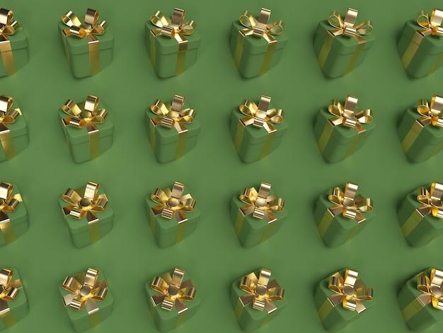 Groene geschenkdoos scène