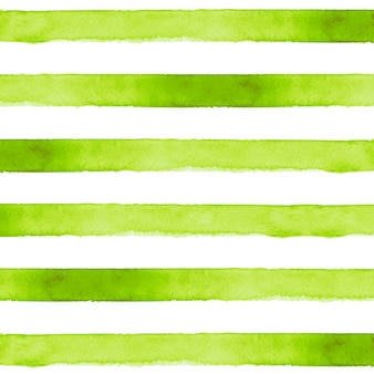 Groene gestreepte aquarel achtergrond