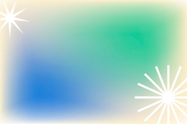 Groene gradiëntachtergrond in abstracte memphis-stijl met funky rand