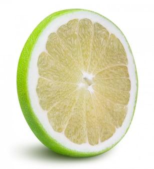 Groene grapefruit, lieverd, witte geïsoleerde grapefruit