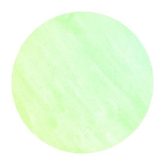 Groene hand getrokken aquarel circulaire frame achtergrondstructuur met vlekken