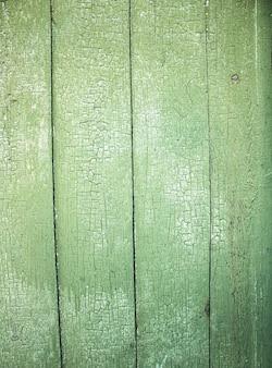 Groene houtstructuur achtergrond bovenaanzicht afbladderende verf