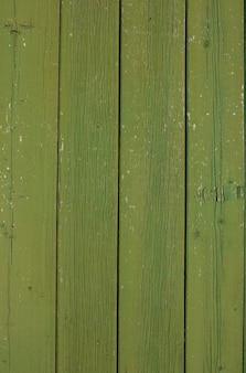 Groene houtstructuur achtergrond bovenaanzicht geschilderde planken houtstructuur