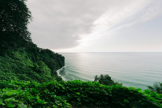 Groene kaap, georgië. prachtige kust van de zwarte zee