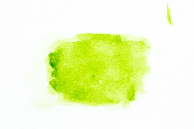 Groene kleurenwaterverf handdrawing als borstel op witboekachtergrond