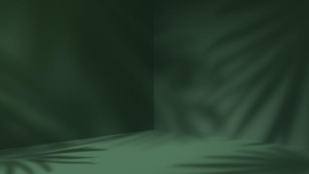 Groene lege ruimte en natuurlijke schaduw verlaat achtergrond