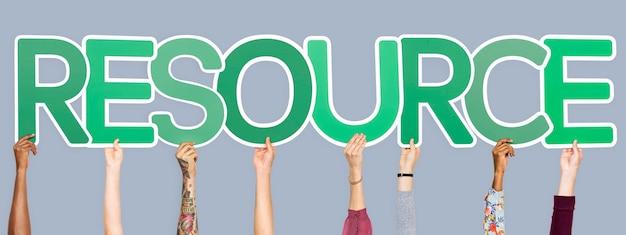 Groene letters die de woordbron vormen