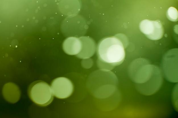 Groene lichten bokeh achtergrond.