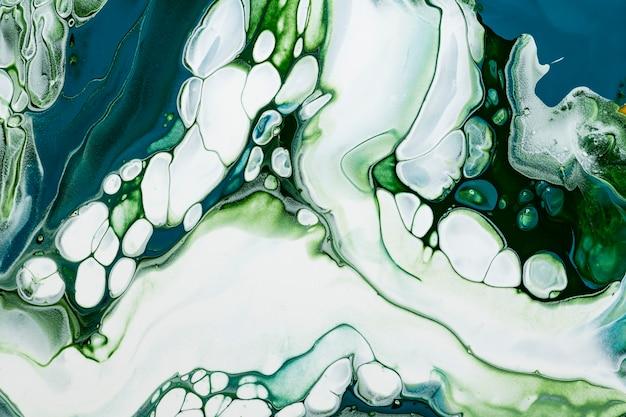 Groene marmeren swirl achtergrond diy vloeiende textuur experimentele kunst