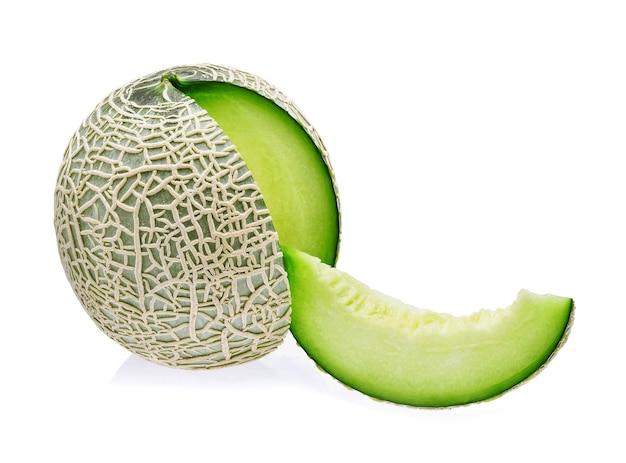 Groene meloen geïsoleerd op witte achtergrond