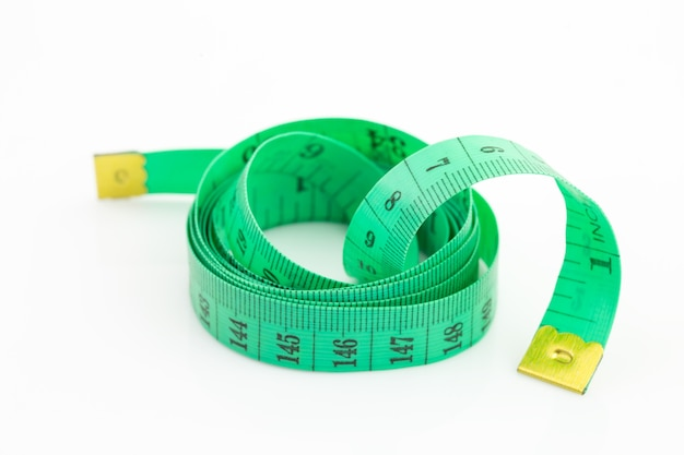 Groene metende band geïsoleerd