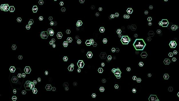 Groene milieuvriendelijke zakelijke technologie abstracte achtergrondelementen