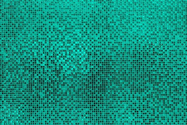 Groene mosiac tegels muur