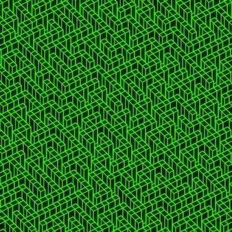 Groene neon doolhof textuur achtergrond