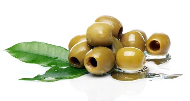Groene olijven in olie