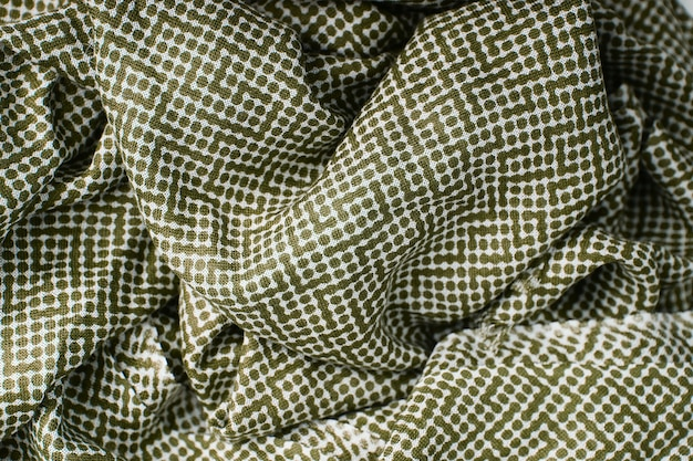 Groene polka dots stof textuur achtergrond