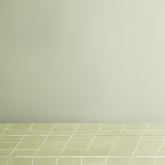Groene productachtergrond, plank met rasterpatroon