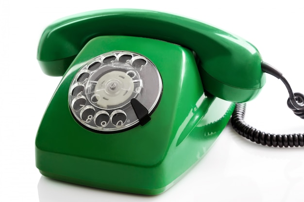 Groene retro telefoon