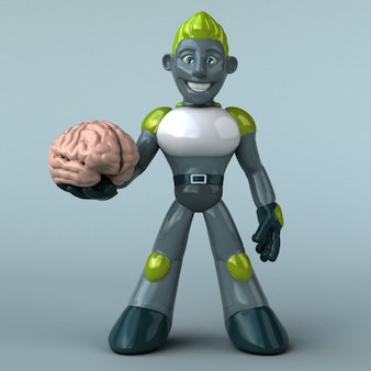 Groene robot - 3d illustratie