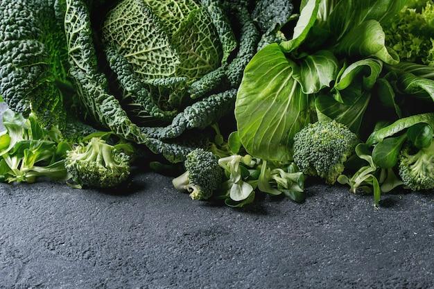 Groene salades en kool