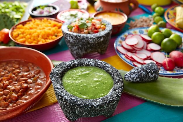 Groene saus met tomaat en chili peper
