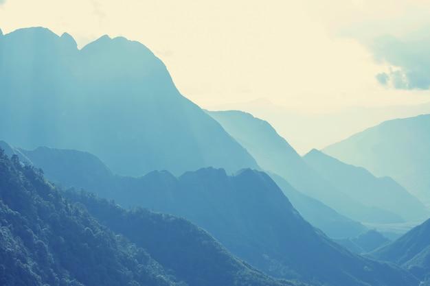 Groene steile bergen in vietnam
