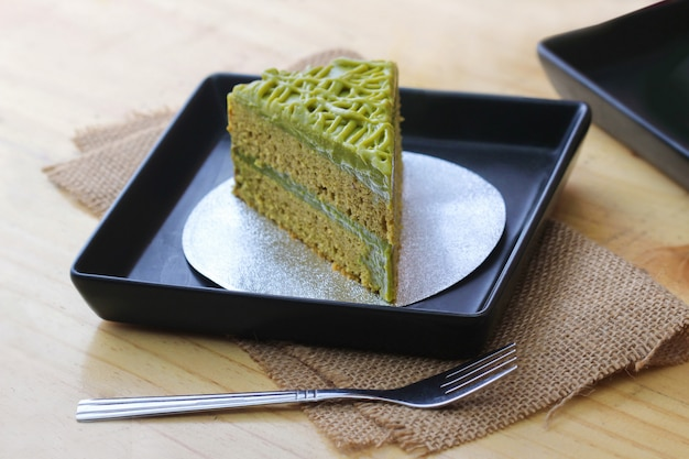 Groene thee cake