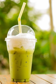Groene thee frappe / groene thee smoothie