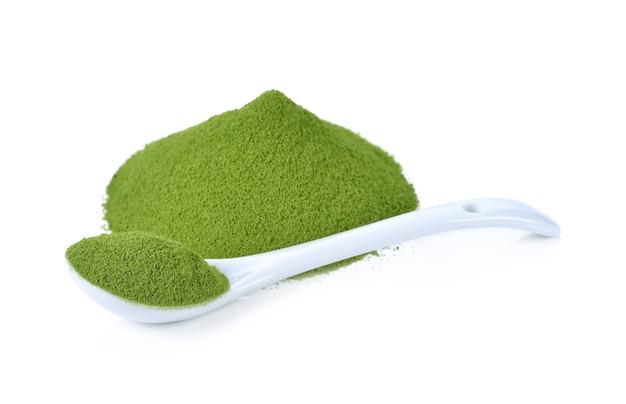 Groene thee in poedervorm