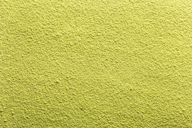Groene thee matcha achtergrond. bovenaanzicht