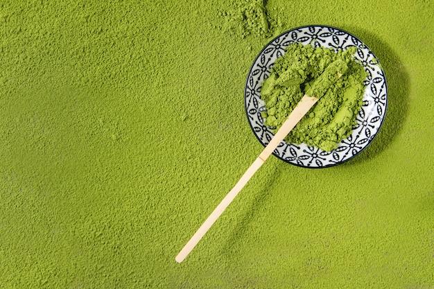 Groene thee matcha poeder