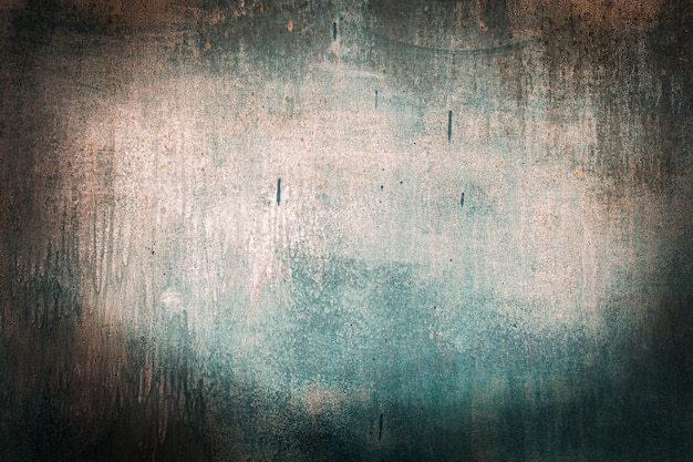Groene tij, blauwe, turquoise oude houtstructuur achtergronden. oranje, roestig, ruwheid en scheuren. kader, vignet