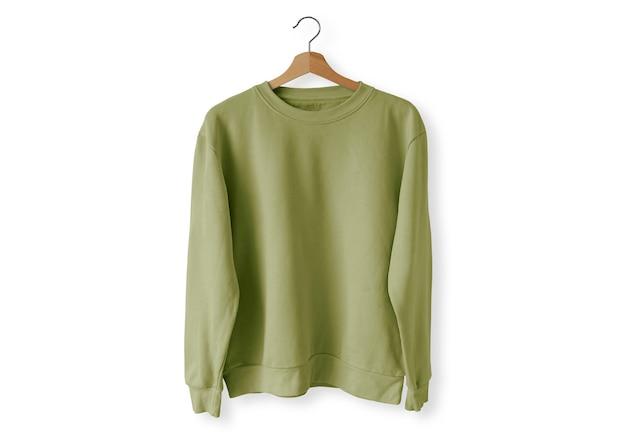 Groene trui aan de voorkant