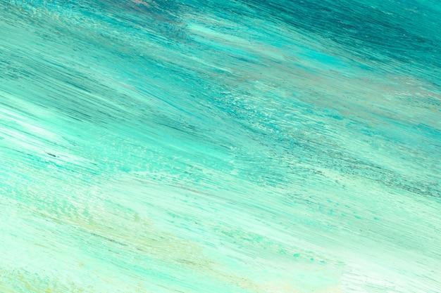 Groene verf op canvas