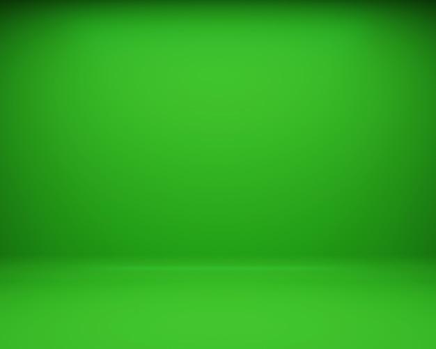 Groene vloer en muur achtergrond. 3d-rendering