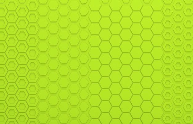 Groene zeshoek grafische muur voor achtergrond