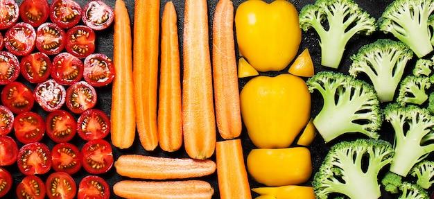 Groente gesorteerd per soort