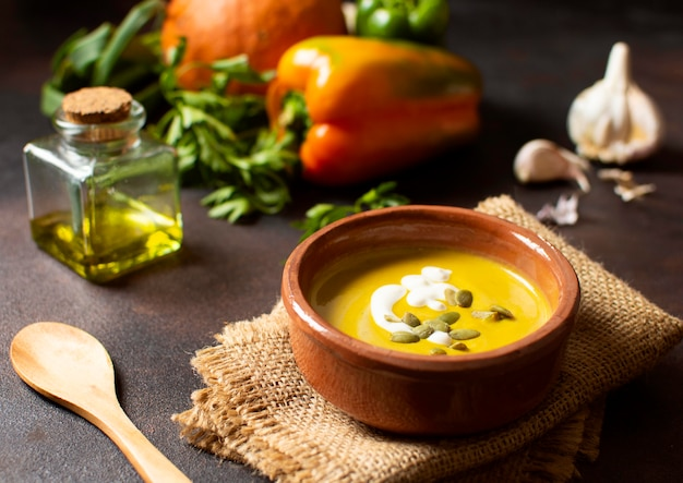 Groenten creme soep wintervoer