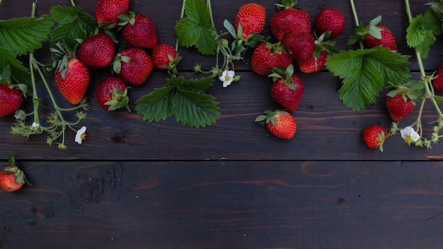 Groenten en fruit op een donkere achtergrond