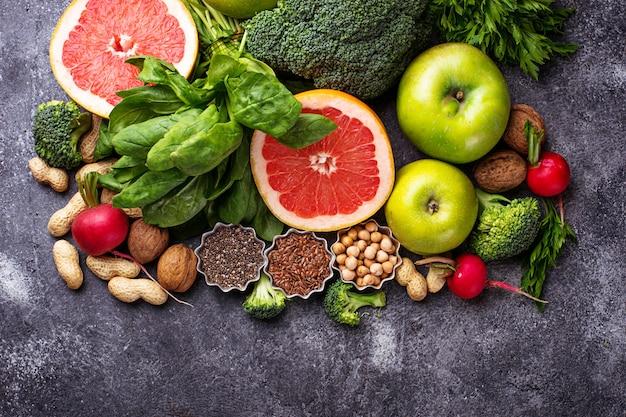 Groenten, fruit, zaden en noten