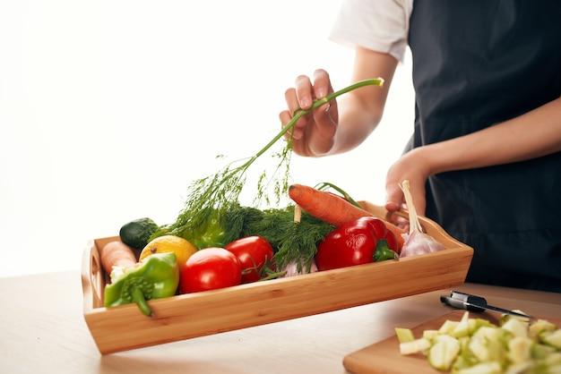Groenten koken vitamines gezond eten in de keuken