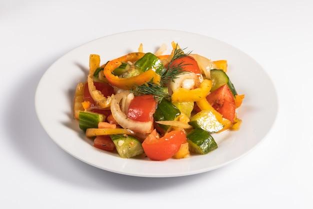 Groentesalade met olijfolie