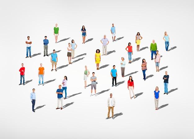 Groep diverse mensen