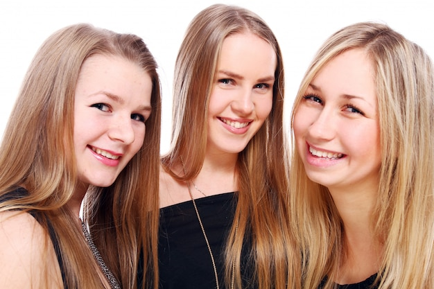 Groep jonge vriendinnen
